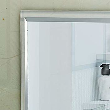 Paige Rectangular Wall Mirror with Clear Acrylic Frame