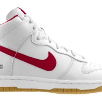 Nike Dunk High NFL San Francisco 49ers iD Custom Men's Shoes - White