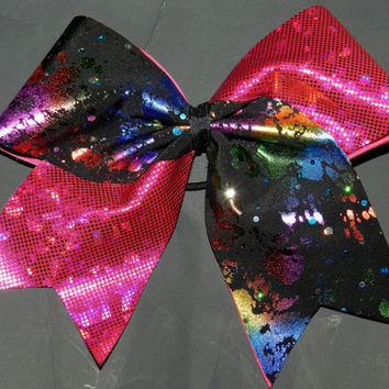 Texas Size Cheer Bow  3 inch base  Flip Bow by ABCBows on Etsy