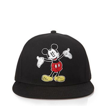 Mickey Mouse Snapback Hat Black One