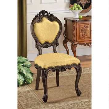 Lady Ambrose Shield Back Victorian Baroque Accent Chair 41.5H