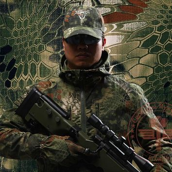 Military Hunting Clothing Tactical Python pattern Camouflage Coats Outdoor Hunting Camping Jacket Shooter Clothing Chasse Caza