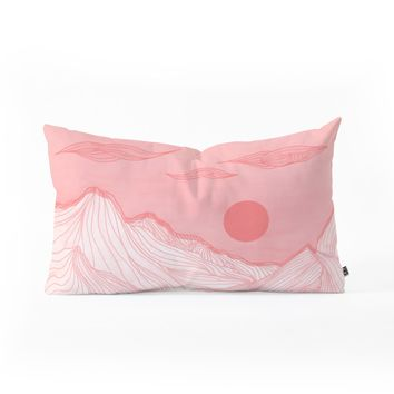 Viviana Gonzalez Lines in the mountains Oblong Throw Pillow | Deny Designs Home Accessories
