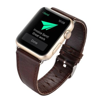 Hot! 2017 Leather Buckle Wrist Watch Band Strap Horses Belt for Watch Apple Watch 42mm Y7811