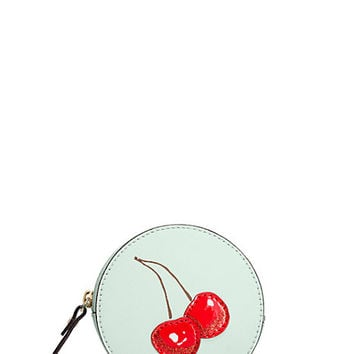 Kate Spade Magnolia Bakery Cherry On Top Coin Purse Magnolia Blue ONE