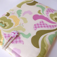 iPad Case, Padded tablet Cover, i Pad Sleeve, Womens iPad Bag, Pouch, Apple iPads 1 2 3 4, Floral Heather Bailey