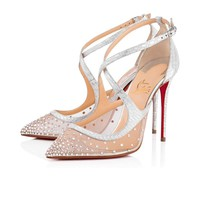 Christian Louboutin Cl Twistissima Strass Version Crystal Strass Bridal 1180014sv57 -