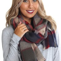 Navy Flannel Scarf