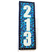 Outdoor House Numbers, Mosaic Address Sign