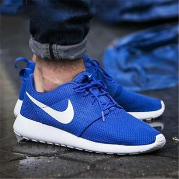 """""""NIKE"""" Roshe One Fashion And Classic Shoes Women Men Casual Sport Shoes Sneakers Blue B"""
