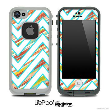 Large Chevron and Slanted Vintage Striped Skin for the iPhone 5 or 4/4s LifeProof Case