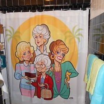 Golden Girls Miranda Priestley Devil Prada Karl Lagerfeld Shower Curtain