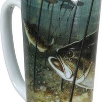 River's Edge 16-Ounce Stainless Steel and Ceramic Travel Mug with Handle