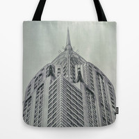 Vintage Chrysler Cuilding 1930's Tote Bag by Wood-n-Images | Society6