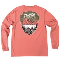 Cahaba Shield Long Sleeve Tee Shirt in Dusty Cedar by The Southern Shirt Co. - FINAL SALE