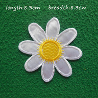 DIY CRAFTS 1pcs Embroidered Applique Flowers Patch Iron On Sew DIY Craft accessories patches