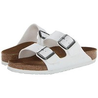 Women's Arizona Sandal in White by Birkenstock