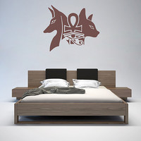 kik1008 Wall Decal Sticker egyptian gods anubis sekhmet living room bedroom