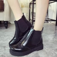 Star Round-toe Flat With Heel Dr Martens Ankle Boots [9432933002]