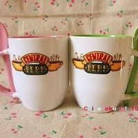 TV Serious Friends Mug Coffee Cup Central Perk with Spoon Handel Ceramics New
