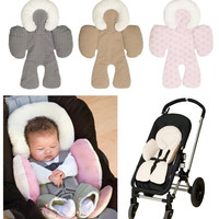 New Collections Head and Reversible Body Support Baby Car Seat Stroller Pram Warm Winter Safe Infant Snuggle High Quality