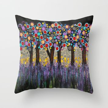 :: When Night Falls :: Throw Pillow by :: GaleStorm Artworks ::