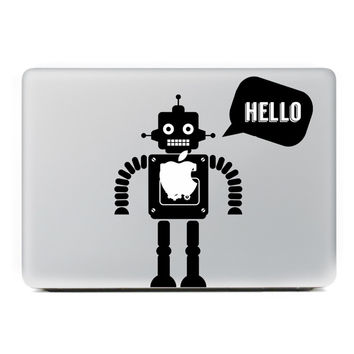 "Hello robot Laptop Sticker for MacBook Decal Air/Pro/Retina 11"" 13"" 15"" Computer Mac Cool skin Pegatina para notebook"