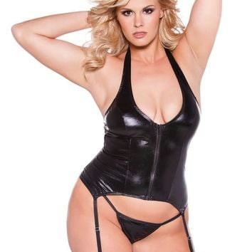 Allure Lingerie Female Plus Size Kitten Sexy Corset 11-1042X