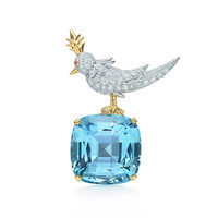 Tiffany & Co. - Tiffany & Co. Schlumberger® Bird on a Rock clip with an aquamarine, mini.