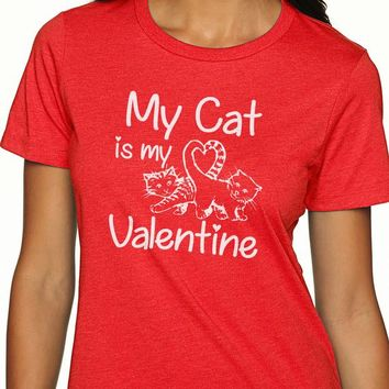 Cat Shirt My Cat is my Valentine Funny Valentine Funny Cat Shirt Custom T Shirt