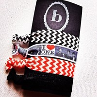 One Direction Hair ties- set of 4