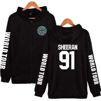 KPOP BTS Bangtan Boys Army  autumn and winter hot men and women suitable ED sheeran personality hip hop college style cool zipper hooded sweatshirt AT_89_10
