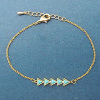 Turquoise, Arrow, Gold, Silver, Bracelet, Modern, Love, Bracelet, Birthday, Best friends, Sister, Gift, Jewelry