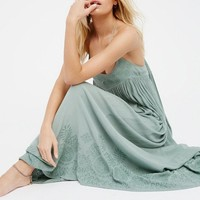 Embroidered Elaine Maxi Slip Dress   Mint   Free People – The Freedom State