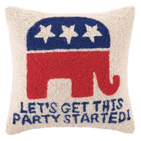 Republican Party Started Hook Pillow