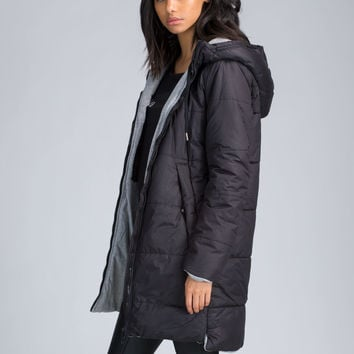 Out In the Cold Puffy Hooded Jacket GoJane.com