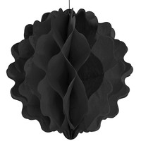 Black - Birthday Party Honeycomb Ball Decorations