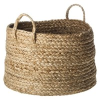 "Threshold™ Jute Basket with Handles - 14""w x10""h"