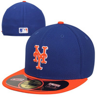 New Era New York Mets Diamond Era 59FIFTY Performance Fitted Hat - Royal Blue