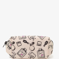 Small Perfume Print Cosmetic Bag