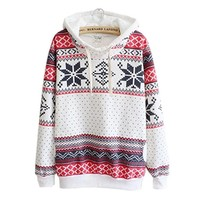 AIMTOPPY Womens Christmas Hoodie Sweatshirt Jumper Sweater Hooded Pullover Casual Blouse (M)