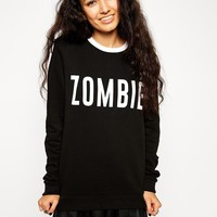 ASOS | ASOS Sweatshirt With Halloween Zombie Print at ASOS