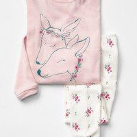 Gap Deer And Floral Sleep Set