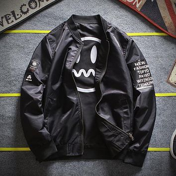 Men's Bomber Jacket-Emoji