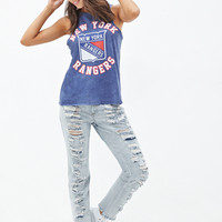 FOREVER 21 NY Rangers Tank Top Blue/White