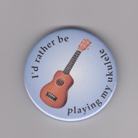 Badges for musicians. Tell the world you love your musical instrument with music pins - for flute, trumpet, drums, ukulele and more