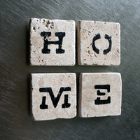 home mini travertine tile magnets in natural beige and by EcoPrint