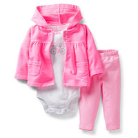 Spring Into Pink 3-Piece Cardigan Set
