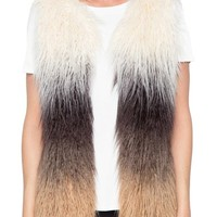 Willow & Clay Ombré Faux Fur Vest | Nordstrom