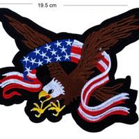 Eagle Iron / Sew On Embroidered Patch Badge Embroidery motif motor bike usa flag | eBay